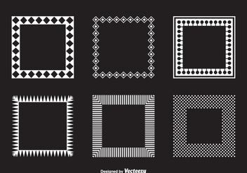 Vector Square Geometric Funky Frames - Free vector #421773