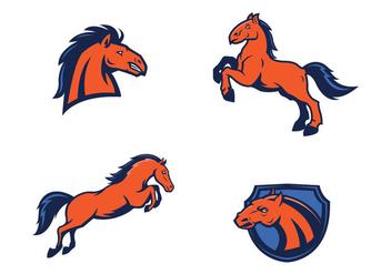 Free Mustang Mascot Vector - Free vector #421903