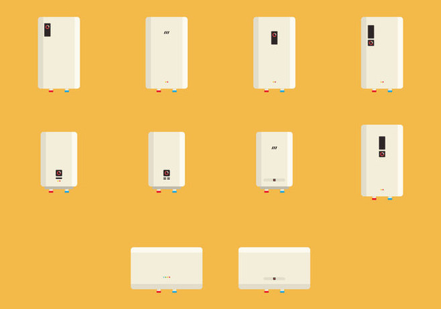 Heater Icon Set - Free vector #421953