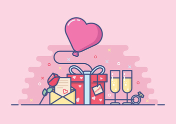 Cute Valentine's Day Illustration - Kostenloses vector #421963
