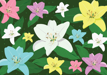 Easter Lily Vector Art - Free vector #422263