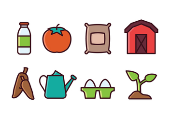 Agriculture Icon Set - vector gratuit #422273
