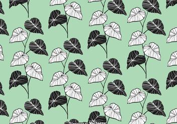 Elegant Leaves Seamless Pattern Vector - vector gratuit #422463