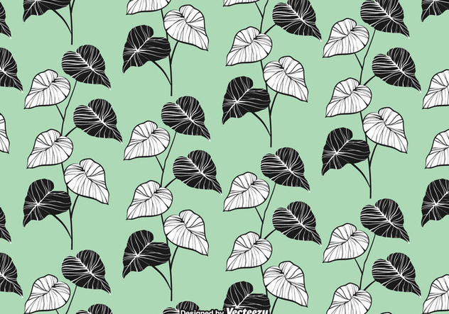 Elegant Leaves Seamless Pattern Vector - vector #422463 gratis