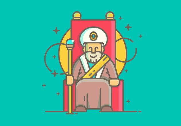 Linear Simple Sultan Vector Illustration - vector #422523 gratis