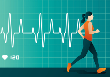 Heart Rate Run Free Vector - Kostenloses vector #422653