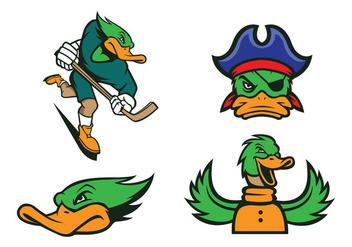Free Ducks Mascot Vector - бесплатный vector #422883