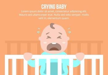 Crying Baby Background - бесплатный vector #422893
