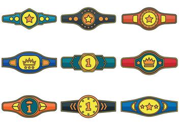 Championship Belt Vector Icons - Free vector #422903