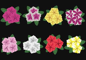 Petunia Flowers Vector - бесплатный vector #422923