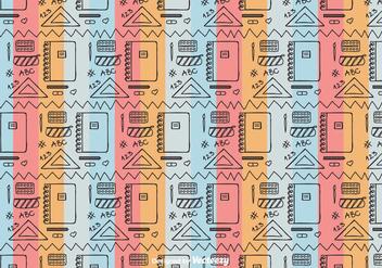 School Tool Pattern Vector - бесплатный vector #422963