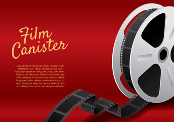 Film Canister Roll Template Vector - бесплатный vector #423033