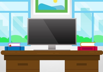 Free Designer's Desk Vector - Free vector #423123