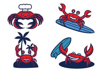 Free Crabs Mascot Vector - Free vector #423223