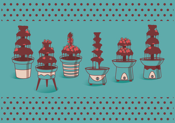 Chocolate Fountain Vectors - Free vector #423273