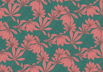 Cassava Plant Leaves Vector - Kostenloses vector #423283