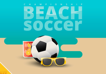 Beach Soccer Illustration - Free vector #423303