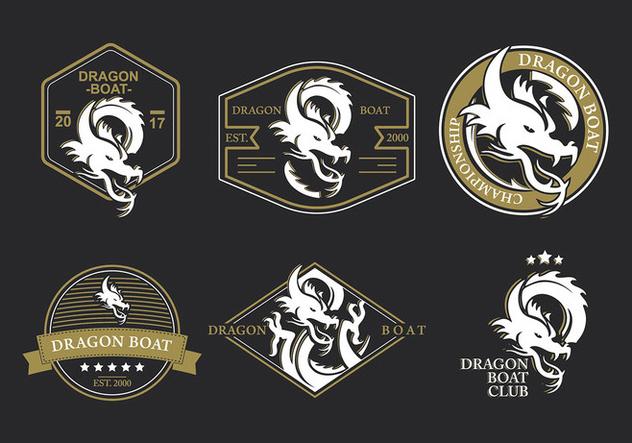 Dragon Boat Logo Festival Vector - Free vector #423473