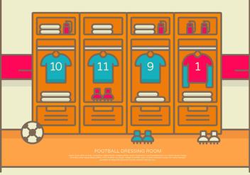 Vector Illustration Football Dressing Room - Kostenloses vector #423553