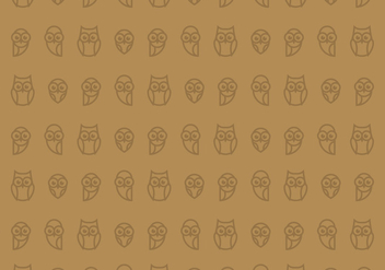 Owl Seamless Wallpaper - Free vector #423583
