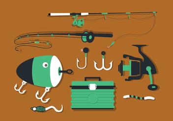 Fishing Tools Set Vector Pack - Kostenloses vector #423693