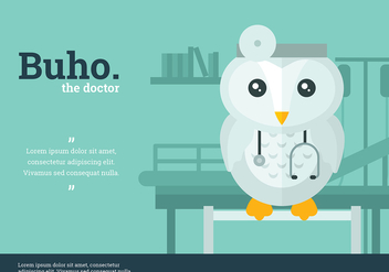 Buho Doctor Character Vector - Free vector #423863