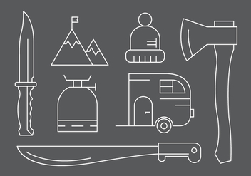 Free Camping / Hiking Icons in Vector - Free vector #424023