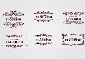 Brown Western Flourish - бесплатный vector #424103