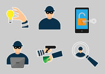 Hacking and Technology Theft Vectors - Free vector #424123