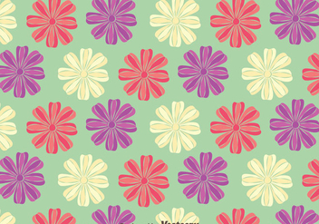 Beautiful Petunia Flowers Pattern Background - Free vector #424223