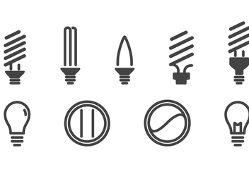 Light Bulbs Icons Set - vector gratuit #424293