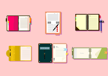 Notebooks Free Vector - Kostenloses vector #424603