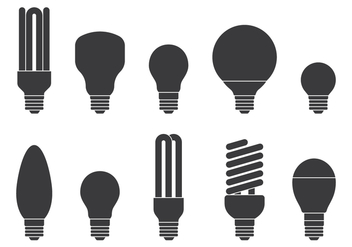 Light Bulb Icons Set - vector #424623 gratis