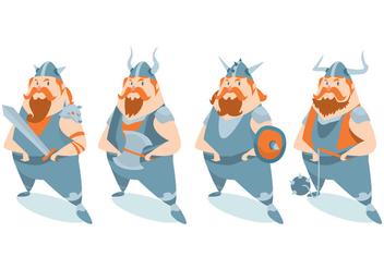 Viking Character Vector Set - Kostenloses vector #424713