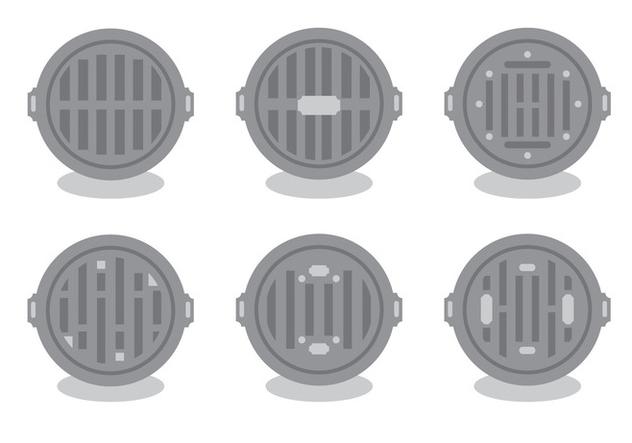 Manhole Vector Set - Free vector #424723