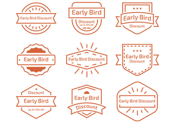 Early Bird Line Label - Free vector #424853