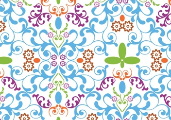 Seamless Floral Pattern Vector - Free vector #424943