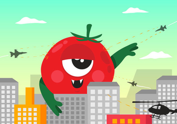 Vector Monster Tomato - Free vector #424953