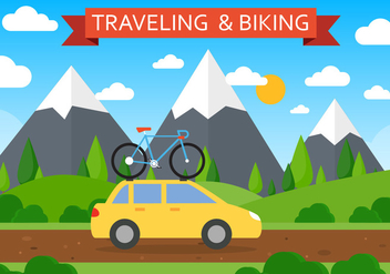 Free Traveling Vector Landscape - Kostenloses vector #424993