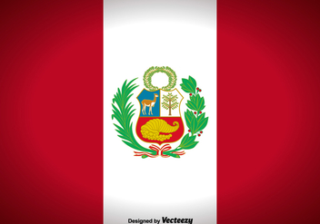 Peru Flag Vector Background - Free vector #425013