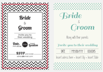 Cool Modern Wedding Invitations - Free vector #425083