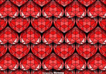 Geometric Hearts Seamless Vector Pattern - Free vector #425093