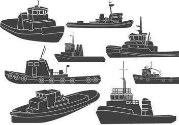Tugboat Clipart Vectors - vector gratuit #425103