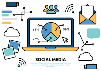 Free Digital Marketing Business Vector Illustration - Free vector #425193