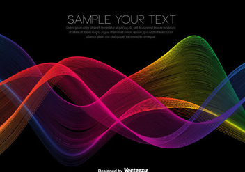 Vector Rainbow Colored Waves - vector gratuit #425213