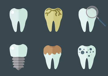 Free Tooth Icons Vector - Free vector #425223