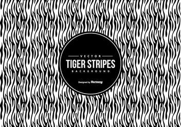 Black/White Tiger Pattern Background - Free vector #425493