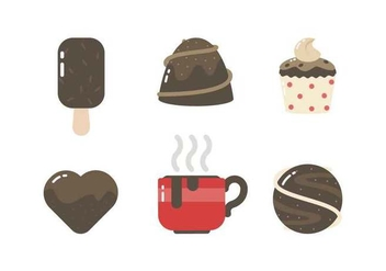 Free Mouthwatering Chocolate Vectors - Free vector #425743