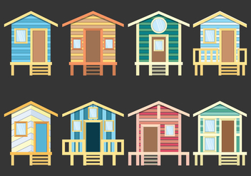 Beach Cabana Icons - Free vector #425793