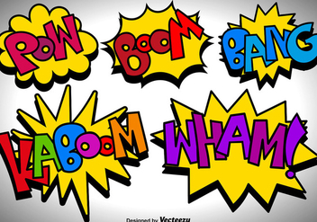 Vector Comic Speech Bubbles Icons - Free vector #425963